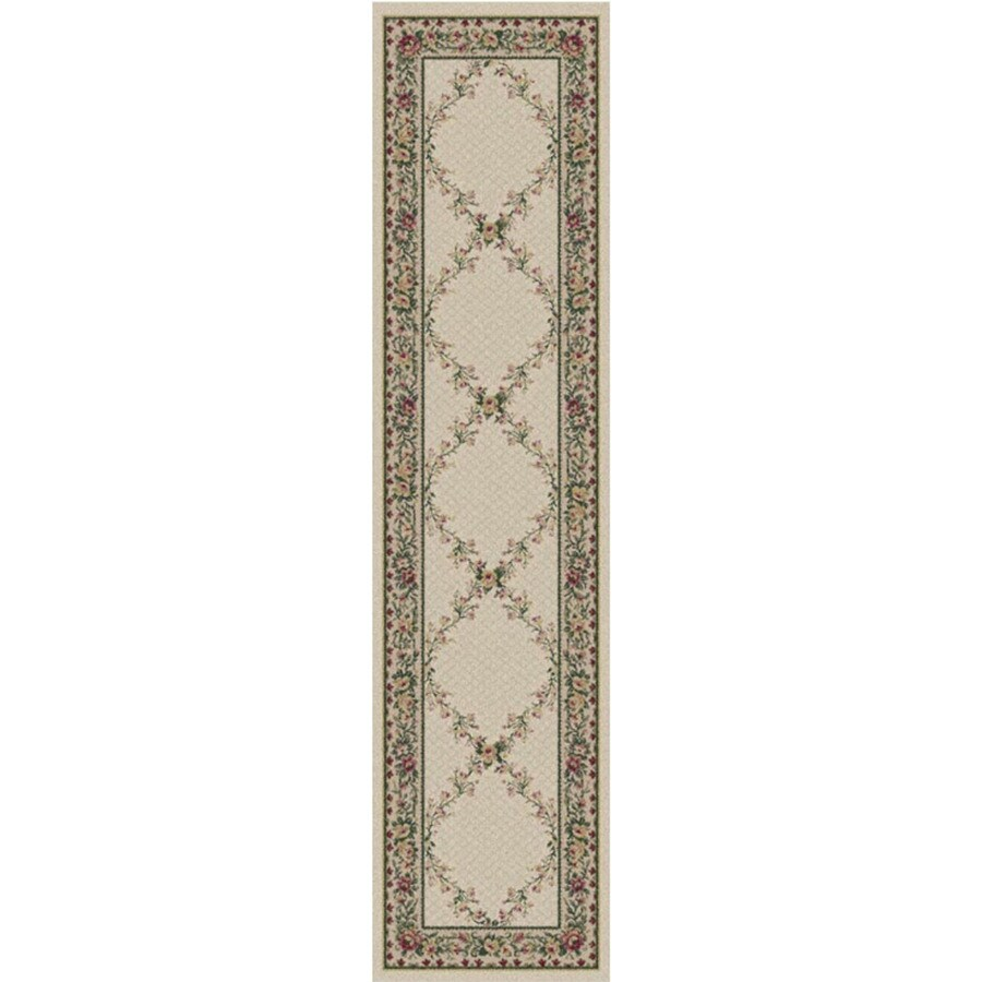 Orian Rugs Kennedy Cream Rectangular Indoor Woven Runner (Common: 2 x 8; Actual: 2-ft W x 8-ft L)