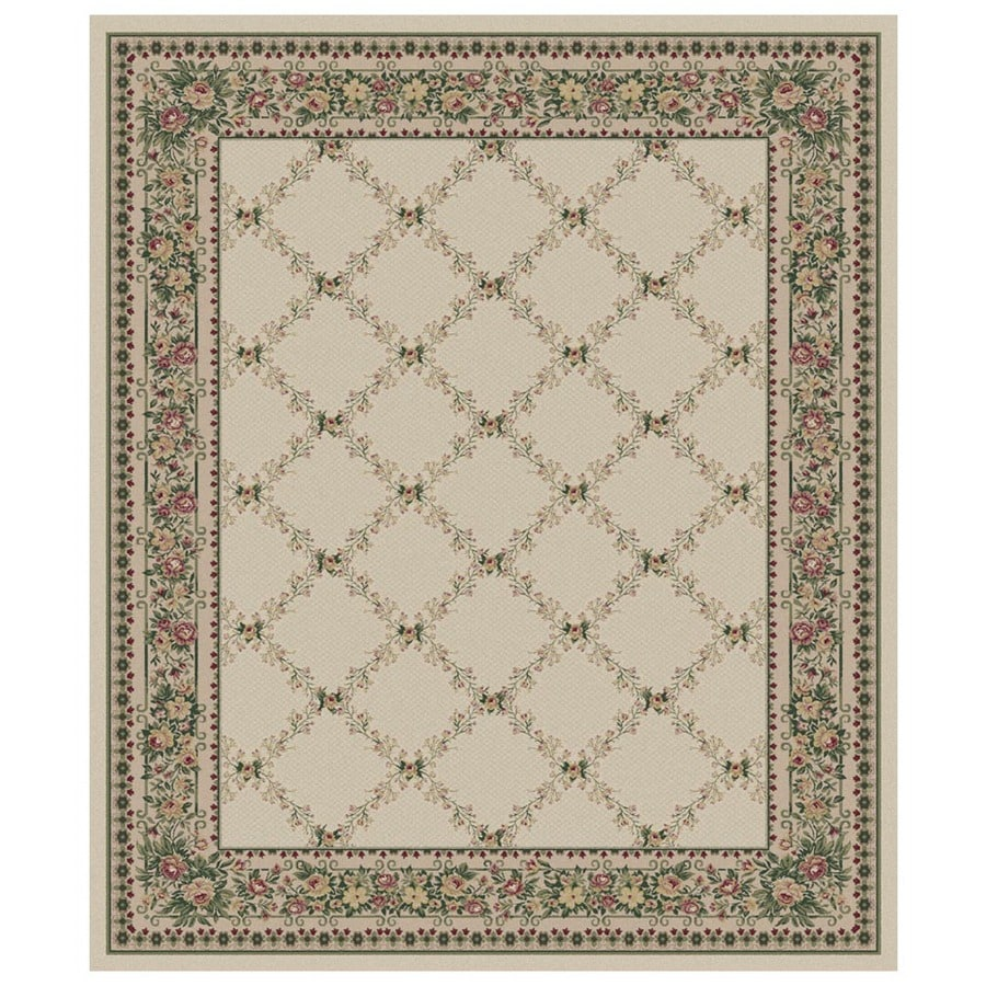 Orian Rugs Inspiration 132-in x 157-in Rectangular Cream/Beige/Almond Floral Area Rug
