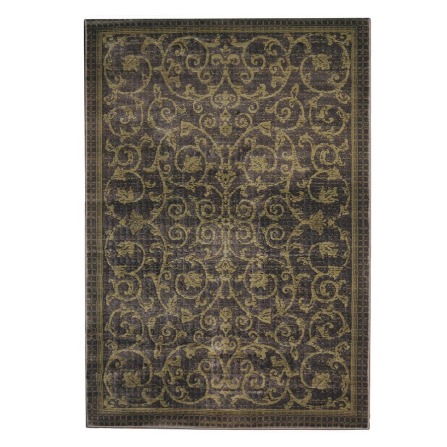 "Orian Rugs Patterson Charcoal: Orian Rugs 5'3"" X 7'6"" Granite Iron Gate Area Rug At Lowes.com"