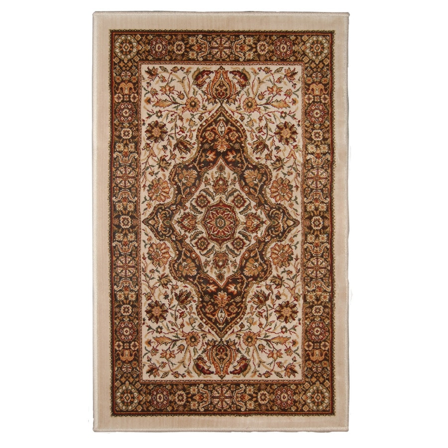 Orian Rugs Medallion Kashan Brown Rectangular Indoor Woven Throw Rug (Common: 2 x 3; Actual: 23-in W x 39-in L)