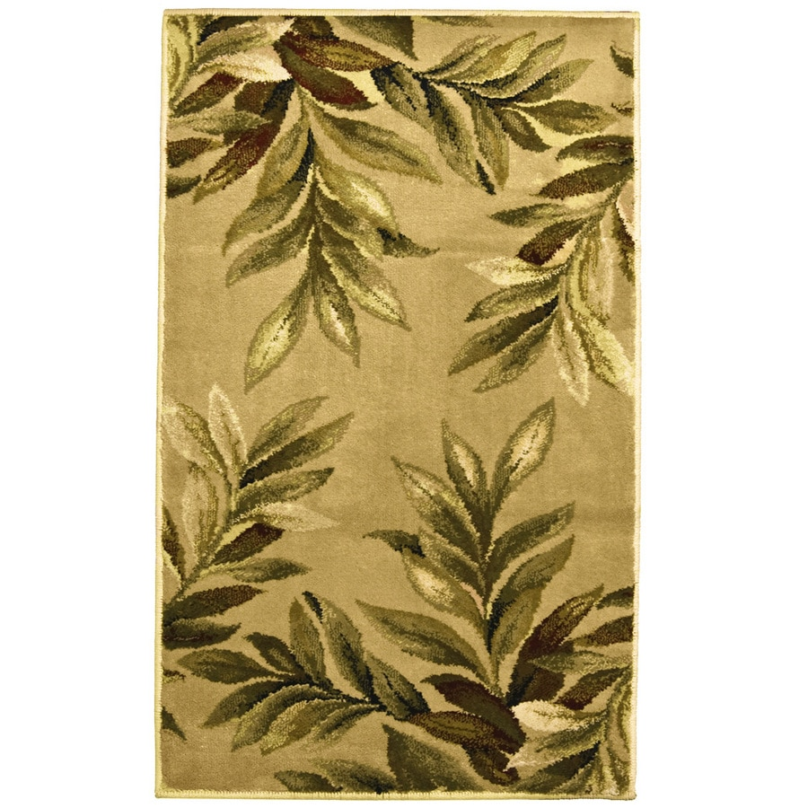 allen + roth Breezy Cream/Beige/Almond Rectangular Indoor Machine-made Nature Throw Rug (Common: 2 x 3; Actual: 2-ft W x 3-ft L x 0.35-ft dia)