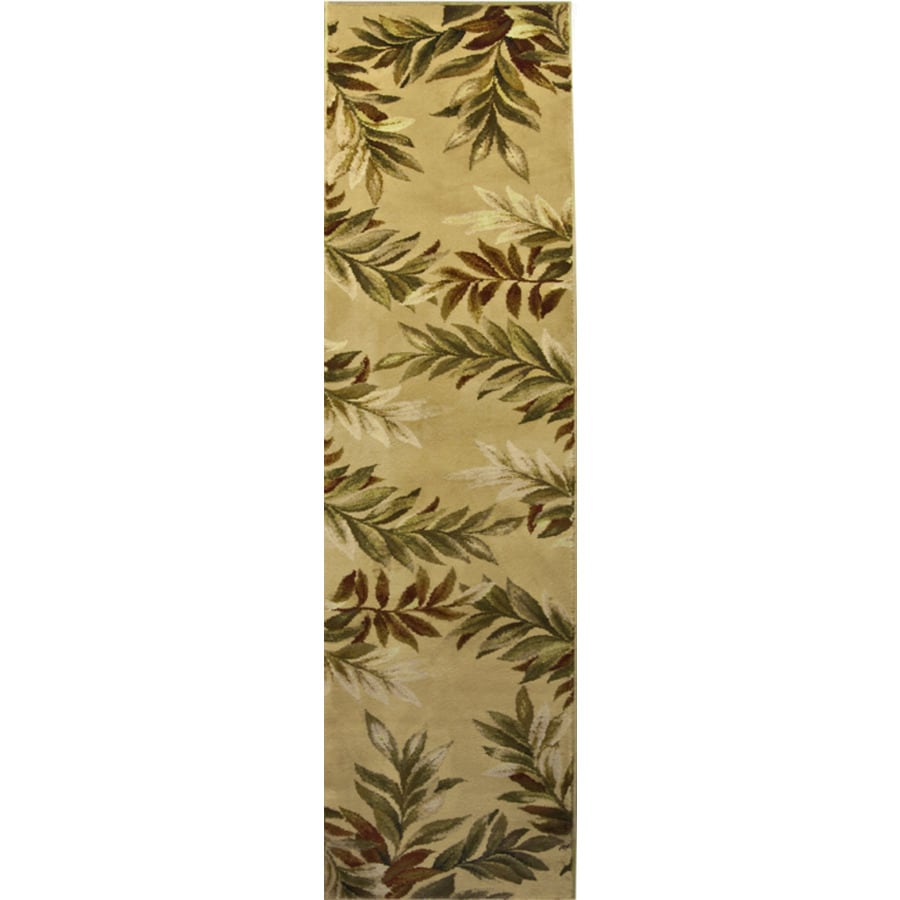allen + roth Breezy Cream/Beige/Almond Rectangular Indoor Machine-made Nature Runner (Common: 2 x 8; Actual: 2-ft W x 8-ft L x 0.35-ft dia)