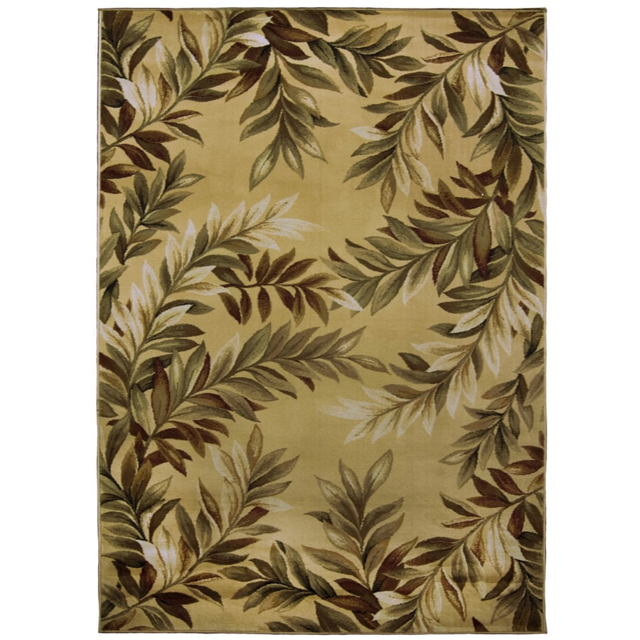 allen + roth Breezy Cream/Beige/Almond Rectangular Indoor Machine-made Nature Area Rug (Common: 5 x 8; Actual: 5-ft W x 8-ft L x 0.35-ft dia)