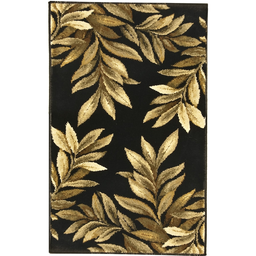 allen + roth Breezy Black Rectangular Indoor Machine-Made Nature Throw Rug (Common: 2 x 3; Actual: 1.92-ft W x 3.25-ft L x 0-ft Dia)