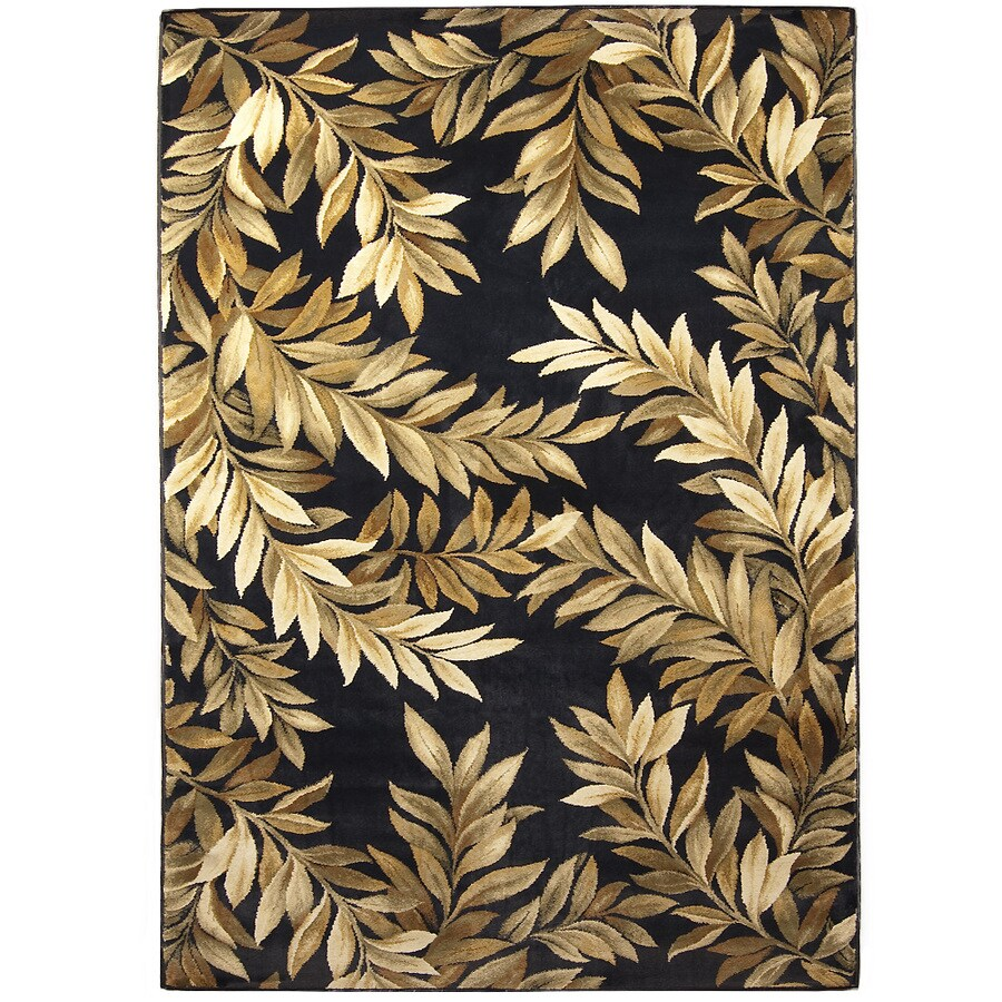 allen + roth Breezy Black Rectangular Indoor Machine-Made Nature Area Rug (Common: 4 x 6; Actual: 3.92-ft W x 5.42-ft L x 0-ft Dia)