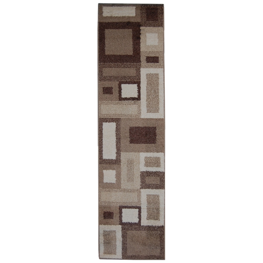 Orian Rugs City-Block Cream Rectangular Indoor Machine-Made Runner (Common: 2 x 8; Actual: 1.92-ft W x 7.42-ft L)