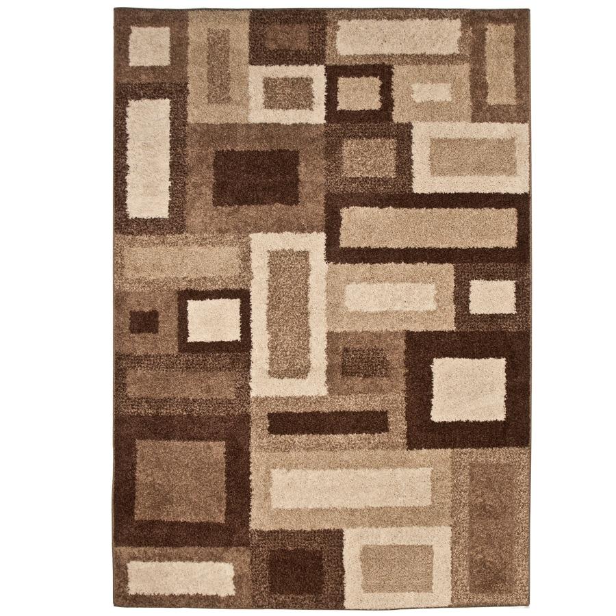 allen + roth City Blocks Cream Rectangular Indoor Woven Area Rug (Common: 5 x 8; Actual: 5.25-ft W x 7.5-ft L x 0-ft Dia)