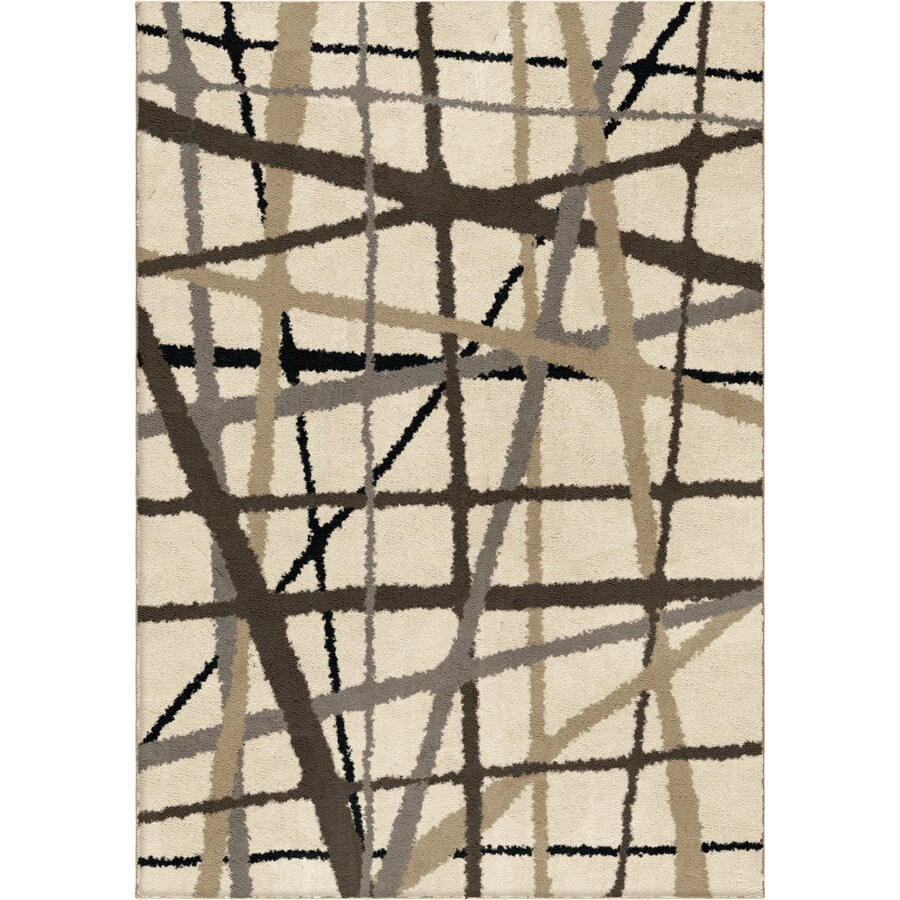 allen + roth Yotta Cream Rectangular Indoor Machine-made Throw Rug (Common: 2 x 3; Actual: 2-ft W x 3-ft L)