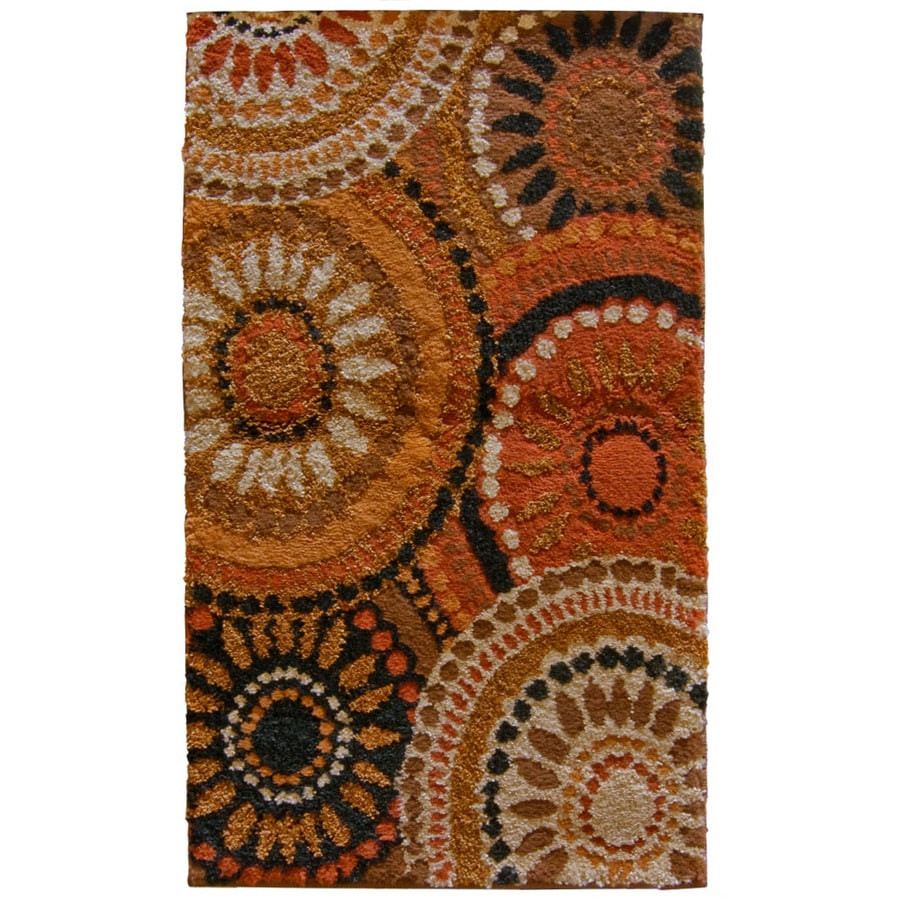Orian Rugs Merrifield Orange Rectangular Indoor Machine-Made Throw Rug (Common: 2 x 3; Actual: 1.92-ft W x 3.25-ft L)