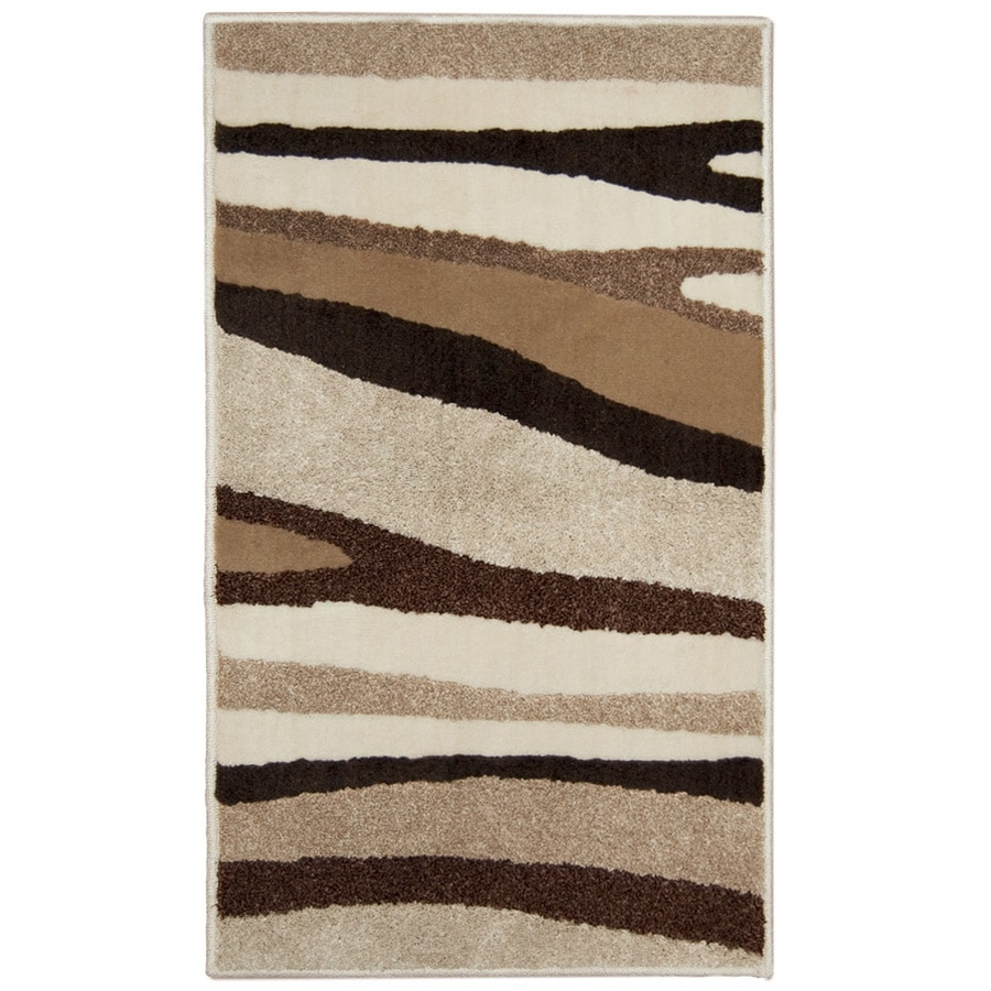 Orian Rugs Laffatie Cream Rectangular Indoor Woven Throw Rug (Common: 2 x 3; Actual: 23-in W x 39-in L)
