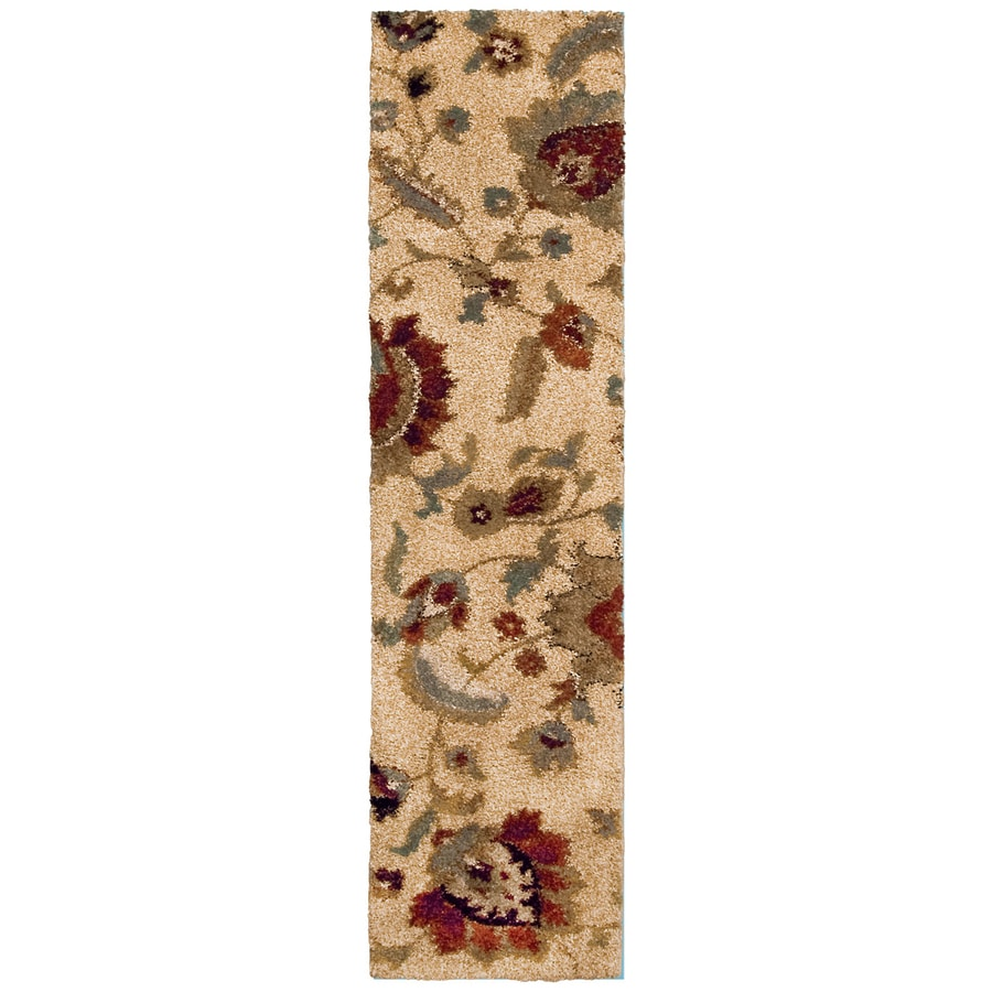 allen + roth Cliffony Cream/Beige/Almond Rectangular Indoor Machine-Made Runner (Common: 2 x 8; Actual: 1.92-ft W x 7.42-ft L)