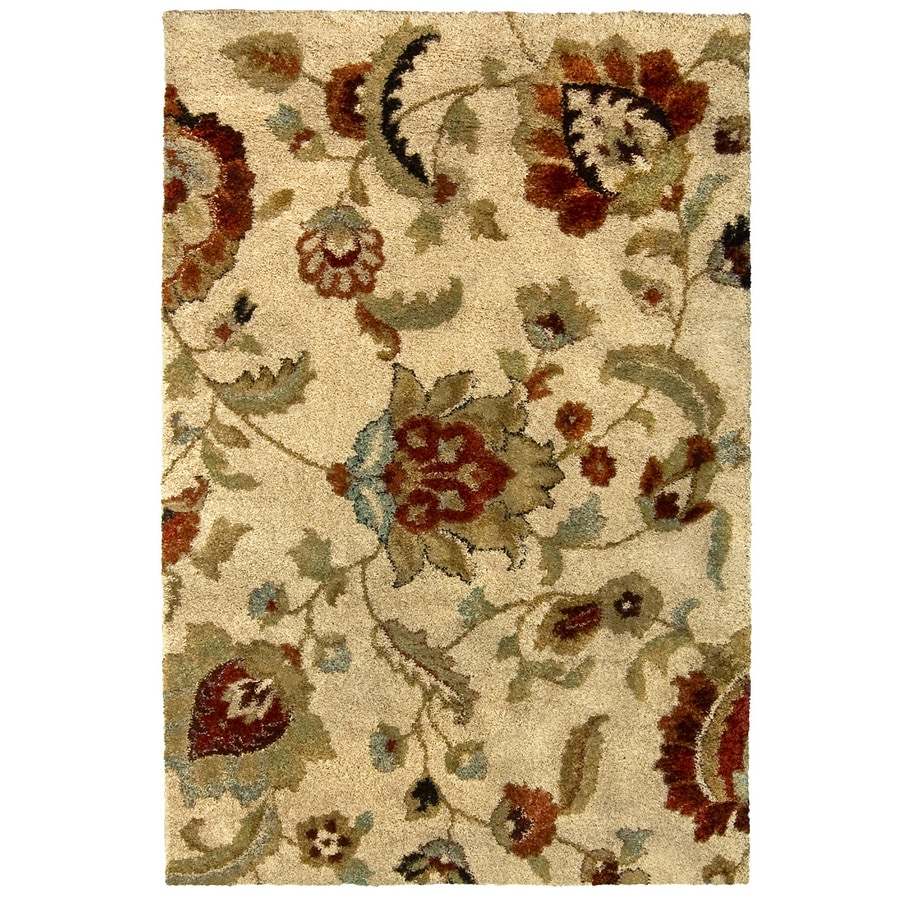 allen + roth Cliffony Cream Rectangular Indoor Machine-Made Area Rug (Common: 8 x 10; Actual: 7.83-ft W x 10-ft L x 0-ft Dia)