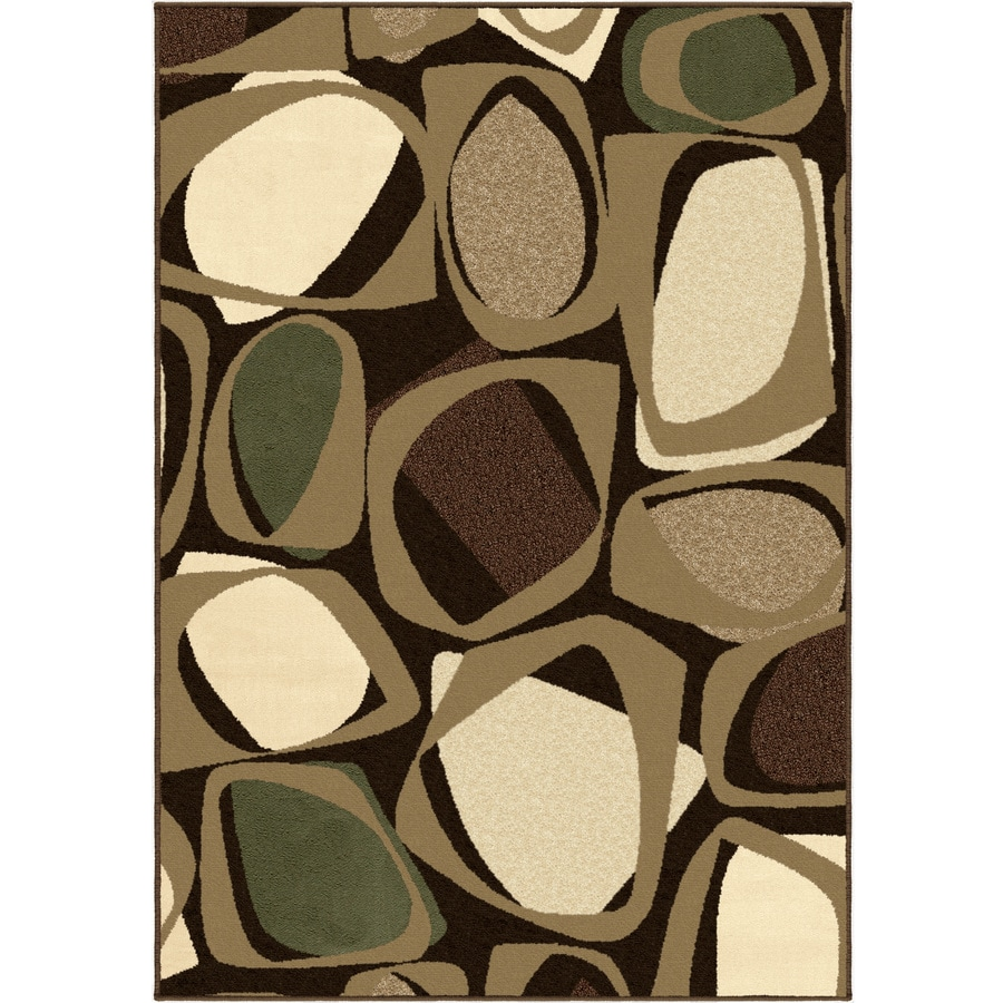 Orian Rugs Larrson Mink Rectangular Indoor Machine-made Novelty Area Rug (Common: 5 x 8; Actual: 5.25-ft W x 7.5-ft L)