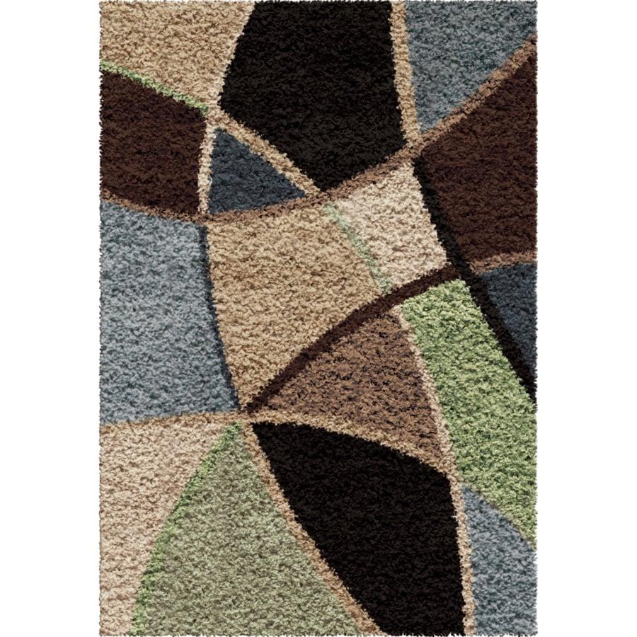 Orian Rugs Divulge Brown Rectangular Indoor Machine-made Novelty Throw Rug (Common: 3 x 5; Actual: 2.58-ft W x 3.75-ft L)