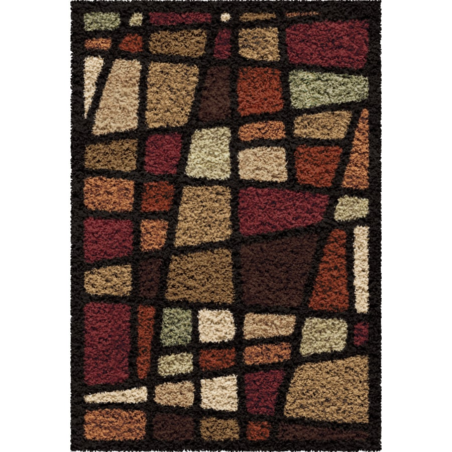Orian Rugs Streetfair Brown Rectangular Indoor Machine-made Novelty Throw Rug (Common: 3 x 5; Actual: 2.58-ft W x 3.75-ft L)