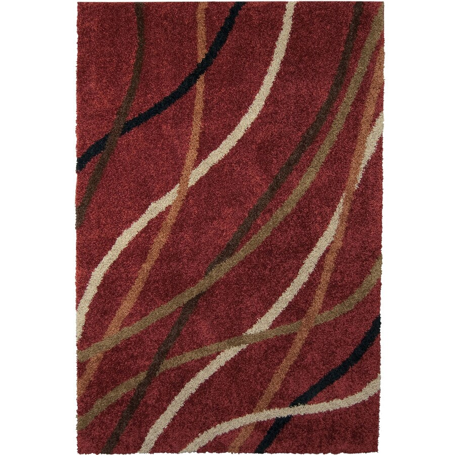 Orian Rugs Liberty Tuscany Rose Rectangular Indoor Machine-made Novelty Area Rug (Common: 5 x 8; Actual: 5.25-ft W x 7.5-ft L)