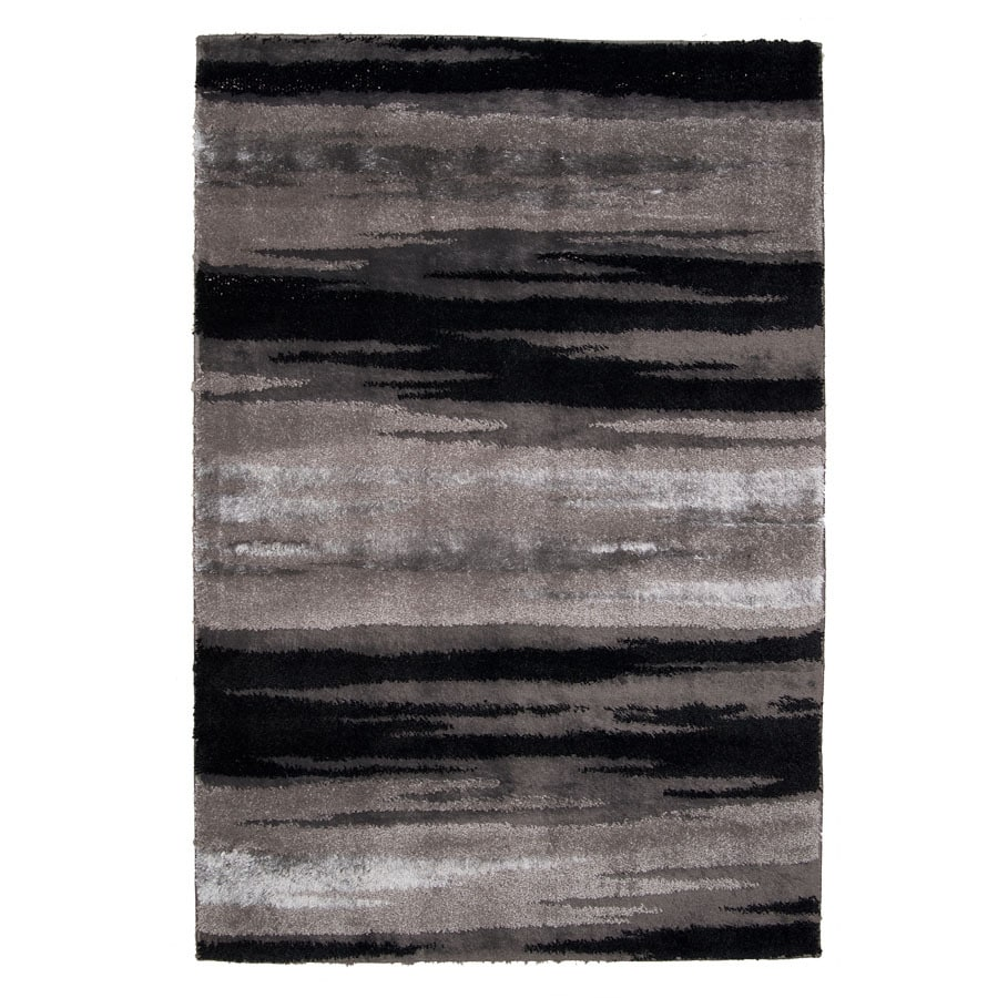 Orian Rugs Big City 47-in x 5-ft 5-in Rectangular Black Transitional Area Rug