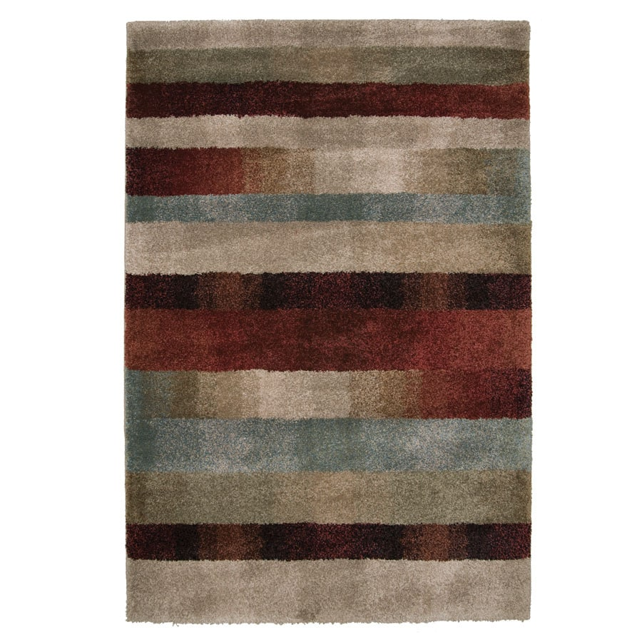 Orian Rugs Fading Panel Multicolor Rectangular Indoor Machine-Made Area Rug (Common: 4 x 6; Actual: 3.92-ft W x 5.42-ft L x 0-ft Dia)