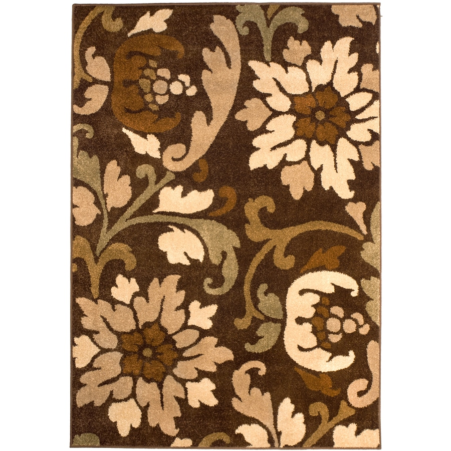 Orian Rugs Bristle Cafe Rectangular Indoor Machine-made Area Rug (Common: 5 x 8; Actual: 5.25-ft W x 7.5-ft L)