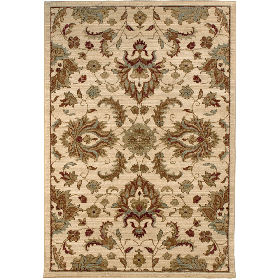 allen + roth Hexham Beige Rectangular Indoor Woven Area Rug (Common: 8 x 10; Actual: 94-in W x 120-in L)