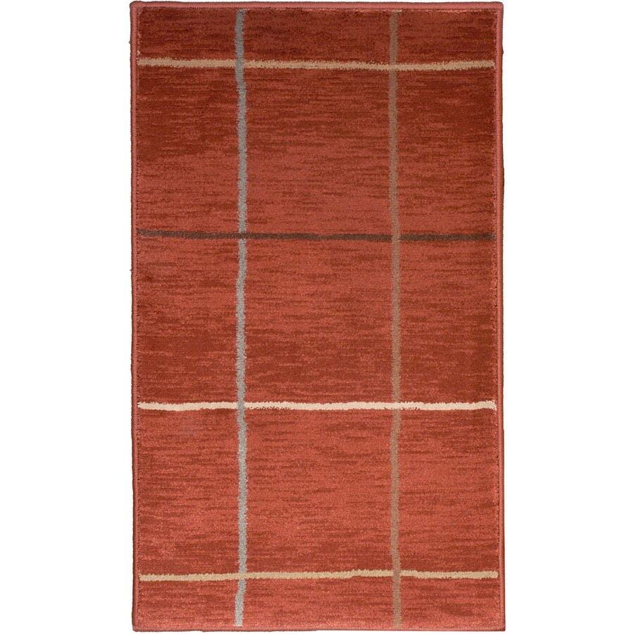 allen + roth Ramsey Red Rectangular Indoor Woven Throw Rug (Common: 2 x 3; Actual: 23-in W x 39-in L)