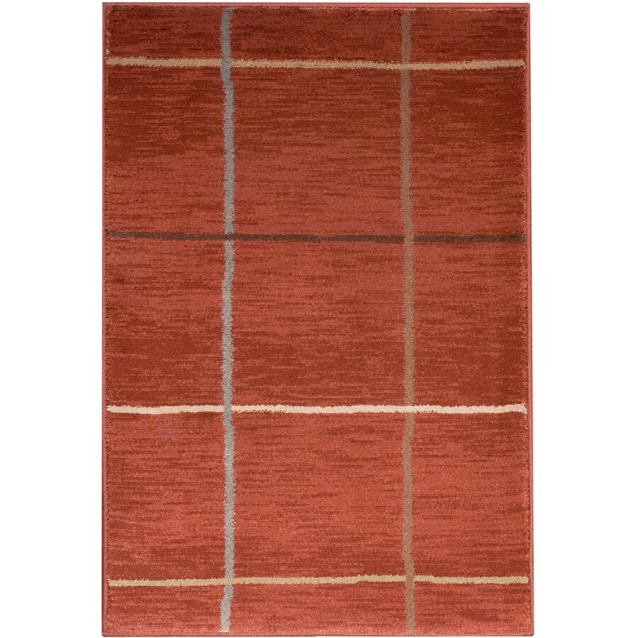 allen + roth Ramsey Rectangular Red Solid Woven Area Rug (Common: 4-ft x 6-ft; Actual: 3.83-ft x 5.41-ft)