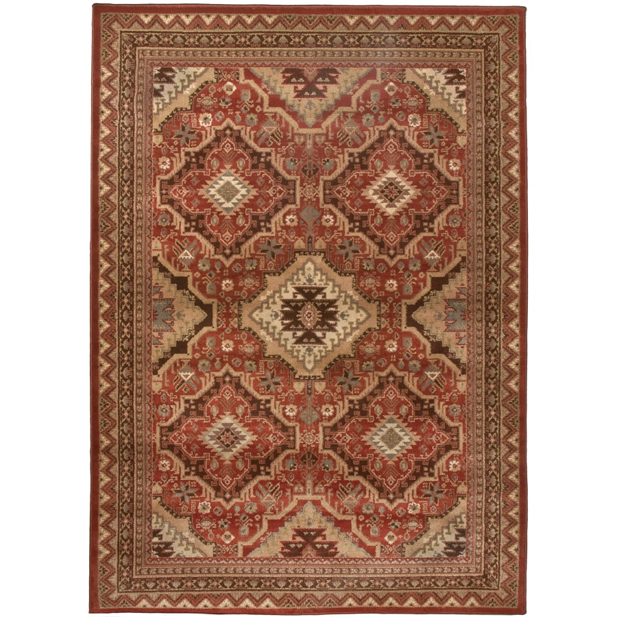 Orian Rugs Kendrick Brick Rectangular Indoor Machine-made Area Rug (Common: 8 x 10; Actual: 7.83-ft W x 10-ft L)