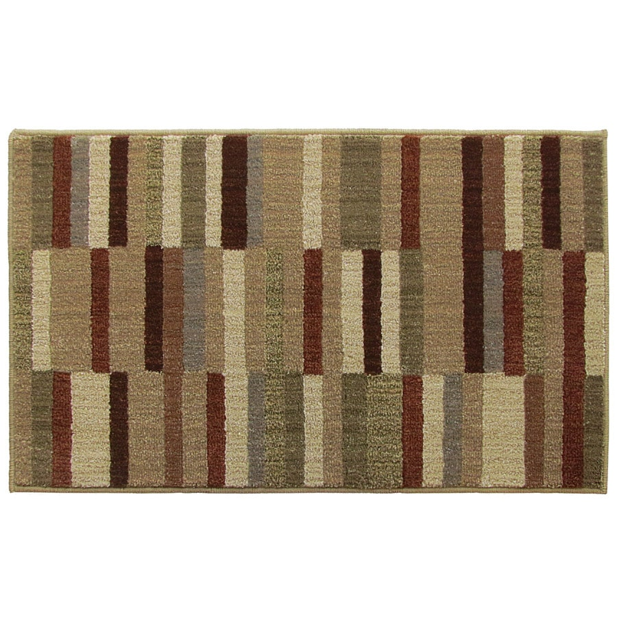 Style Selections Pintin Multicolor Rectangular Indoor Machine-Made Throw Rug (Common: 2 x 3; Actual: 2-ft W x 2-ft L)