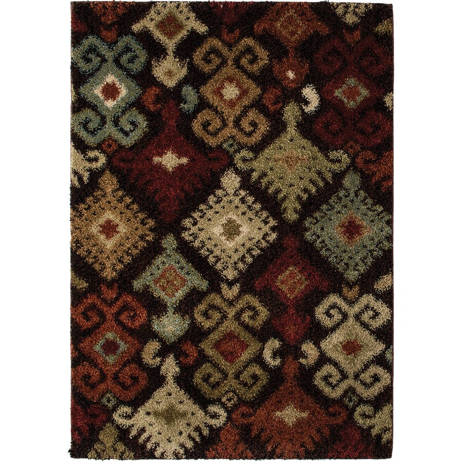 Style Selections Daleo Brown Rectangular Indoor Machine-Made Area Rug (Common: 4 x 6; Actual: 4-ft W x 6-ft L)