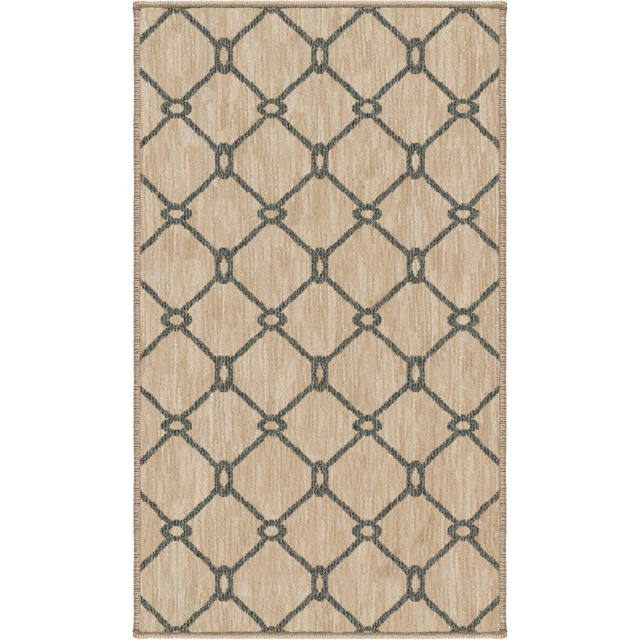 allen + roth Collingtree Cream Rectangular Indoor Machine-Made Throw Rug (Common: 2 x 3; Actual: 1.92-ft W x 3.25-ft L)