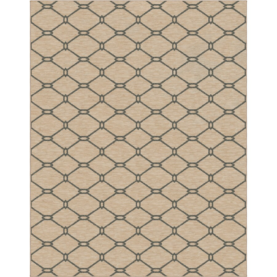 allen + roth Collingtree Cream Rectangular Indoor Machine-Made Area Rug (Common: 8 x 10; Actual: 7.83-ft W x 10-ft L x 0-ft Dia)