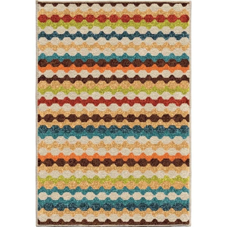 Orian Rugs Nik Nak Gemstone Indoor/Outdoor Novelty Throw Rug (Common: 3 x 5; Actual: 2.42-ft W x 3.75-ft L)