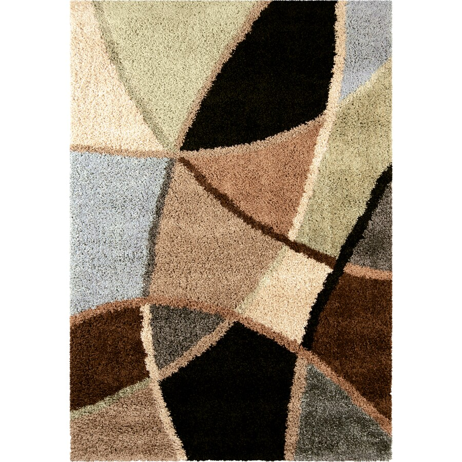 Orian Rugs Divulge Brown Rectangular Indoor Machine-made Novelty Area Rug (Common: 7 x 10; Actual: 6.58-ft W x 9.67-ft L)