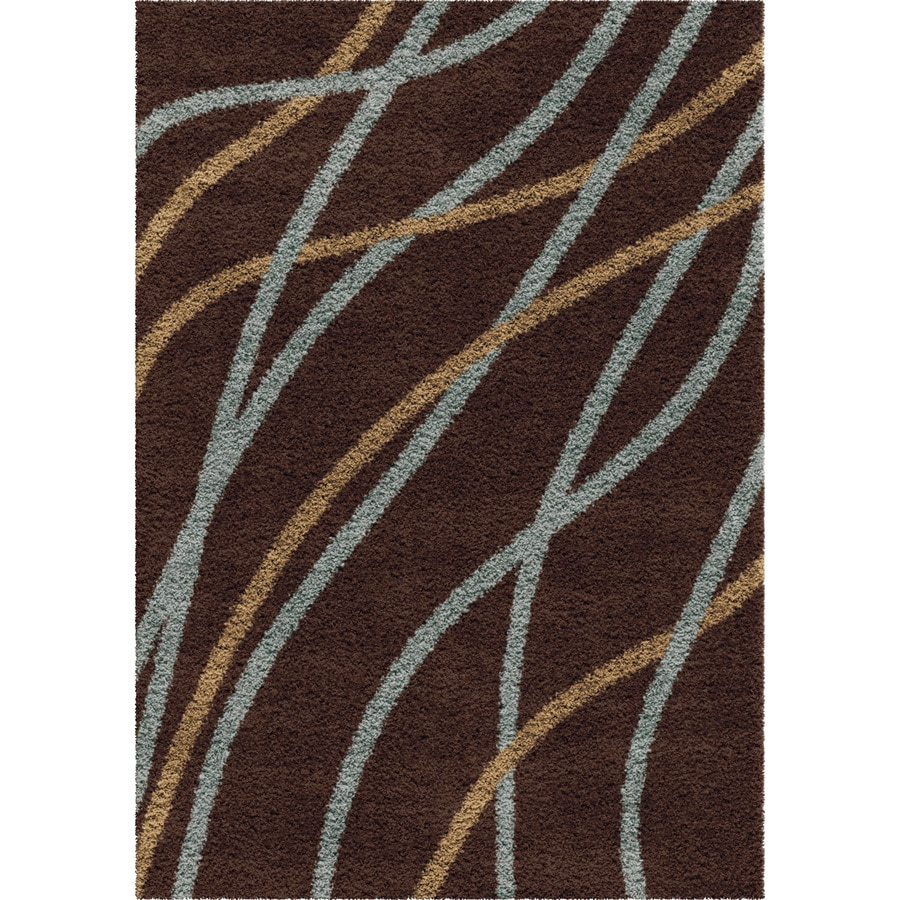 Orian Rugs Liberty Chocolate Indoor Novelty Area Rug (Common: 5 x 8; Actual: 5.25-ft W x 7.5-ft L)