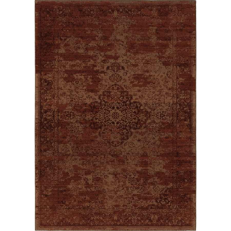 Orian Rugs Faded Traditional Red Rectangular Indoor Machine-made Oriental Area Rug (Common: 5 x 8; Actual: 5.25-ft W x 7.5-ft L)