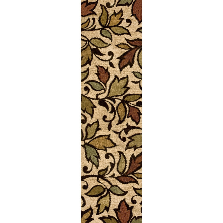 Orian Rugs Vine Beige Indoor Nature Runner (Common: 2 x 8; Actual: 2.25-ft W x 8-ft L)
