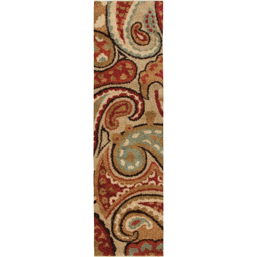Orian Rugs Lazio Red Rectangular Indoor Machine-made Oriental Runner (Common: 2 x 8; Actual: 2.25-ft W x 8-ft L)