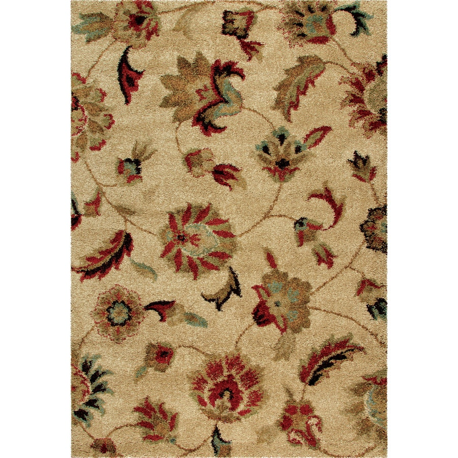 Orian Rugs Landyn Beige Rectangular Indoor Machine-made Nature Area Rug (Common: 8 x 11; Actual: 7.83-ft W x 10.83-ft L)