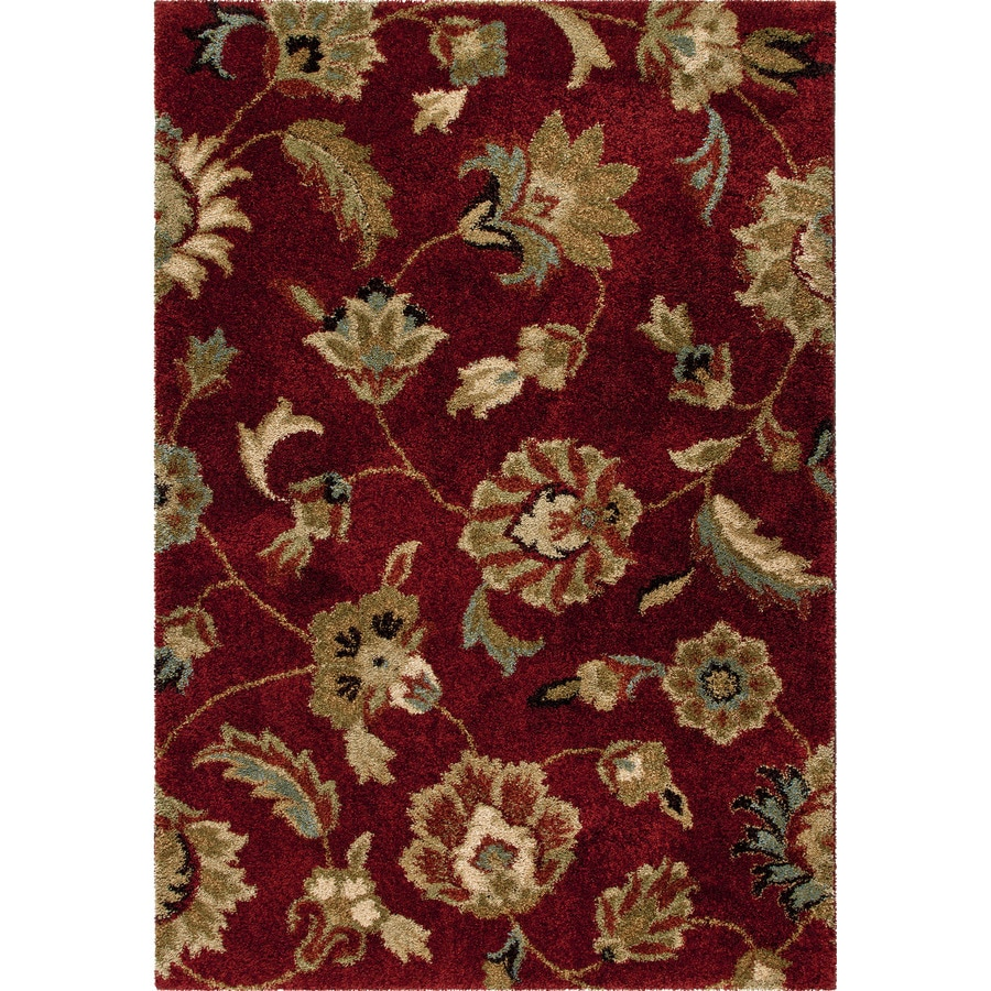 Orian Rugs Landyn Red Rectangular Indoor Machine-made Nature Area Rug (Common: 8 x 11; Actual: 7.83-ft W x 10.83-ft L)