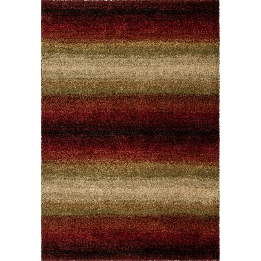 Orian Rugs Connection Red Rectangular Indoor Machine-made Novelty Area Rug (Common: 5 x 8; Actual: 5.25-ft W x 7.5-ft L)