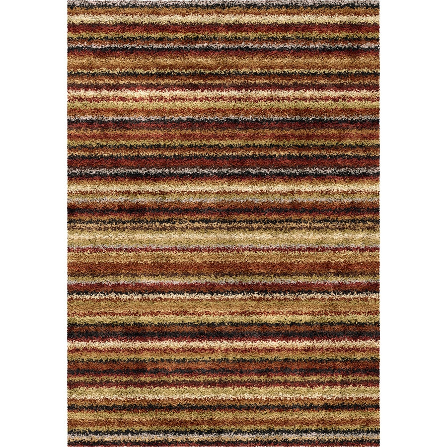 Orian Rugs Greenwhich Brown Rectangular Indoor Machine-made Novelty Area Rug (Common: 8 x 11; Actual: 7.83-ft W x 10.83-ft L)