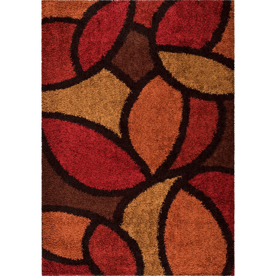 Orian Rugs Soho Red Indoor Nature Area Rug (Common: 8 x 11; Actual: 7.83-ft W x 10.83-ft L)