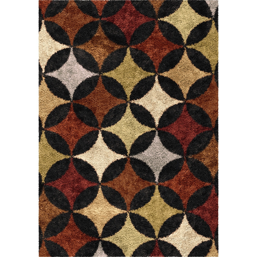 Orian Rugs Murry Hill Black Rectangular Indoor Machine-made Novelty Area Rug (Common: 5 x 8; Actual: 5.25-ft W x 7.5-ft L)