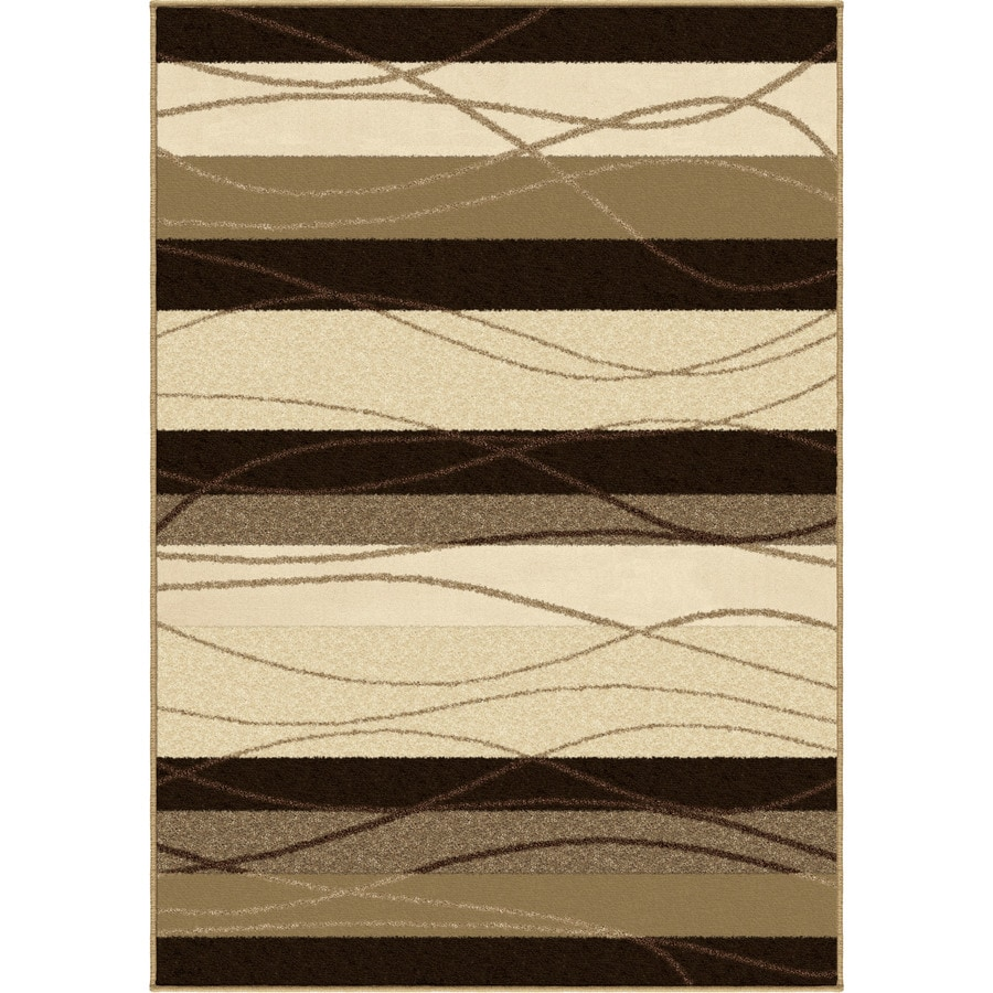 Orian Rugs Traverse Beige Rectangular Indoor/Outdoor Machine-made Novelty Area Rug (Common: 5 x 8; Actual: 5.17-ft W x 7.5-ft L)