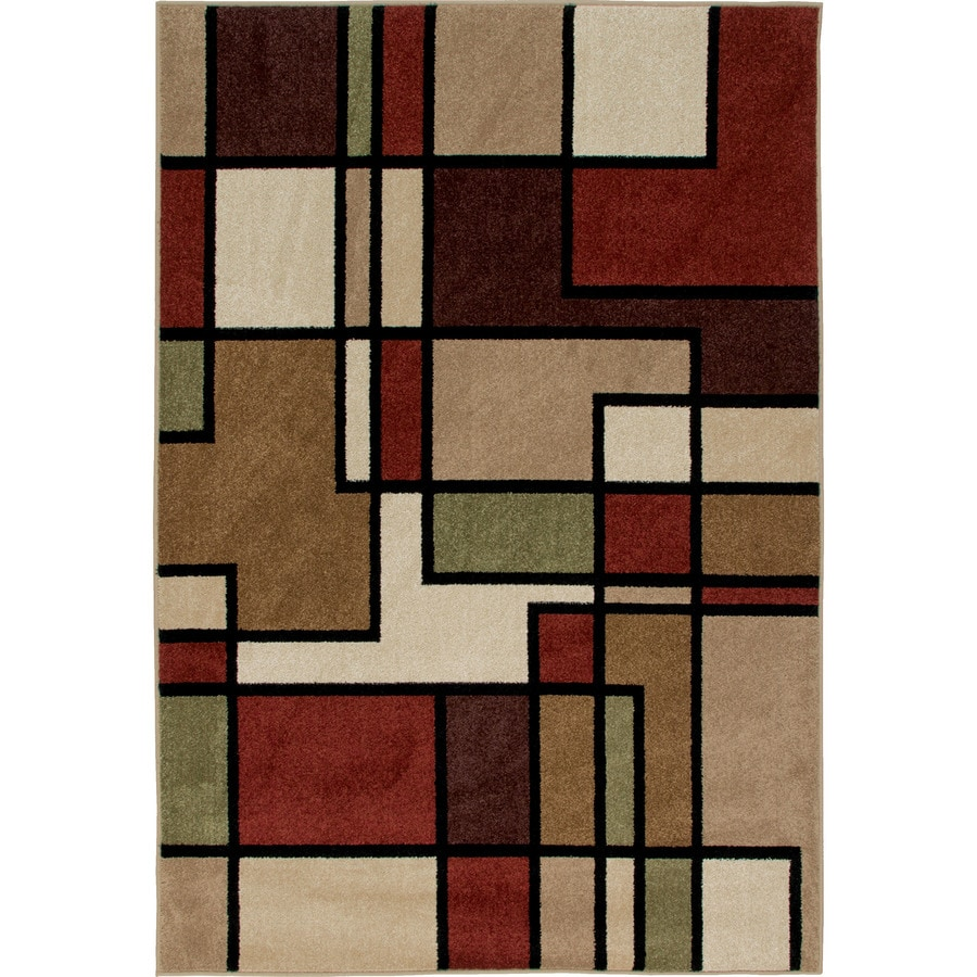Orian Rugs Graham Indoor/Outdoor Novelty Area Rug (Common: 5 x 8; Actual: 5.17-ft W x 7.5-ft L)