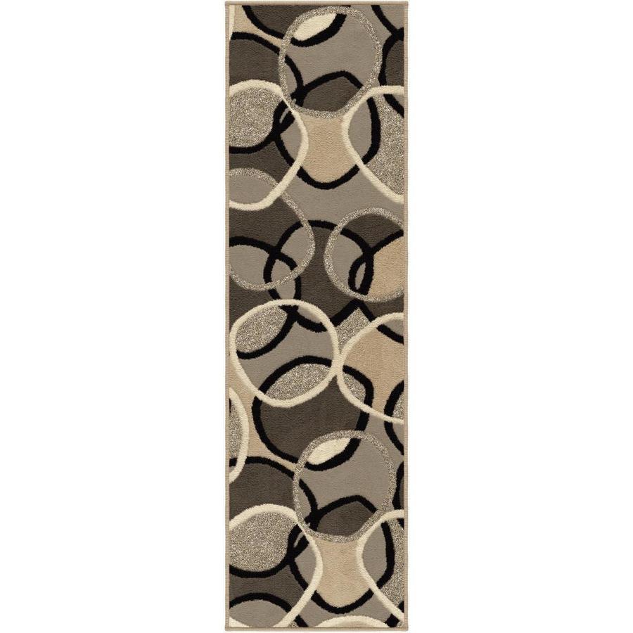 Orian Rugs Overlap Brown Indoor Novelty Runner (Common: 2 x 8; Actual: 2.25-ft W x 8-ft L)