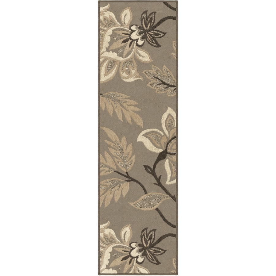 Orian Rugs Sabrina Taupe Rectangular Indoor Machine-made Nature Runner (Common: 2 x 8; Actual: 2.25-ft W x 8-ft L)