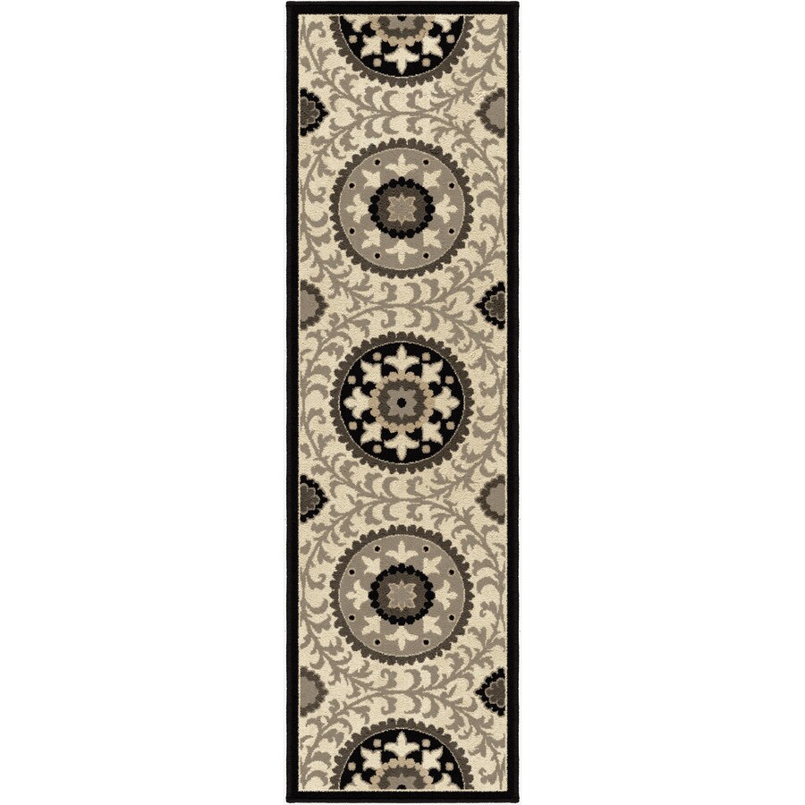 Orian Rugs Meridian Taupe Rectangular Indoor Machine-made Novelty Runner (Common: 2 x 8; Actual: 2.25-ft W x 8-ft L)