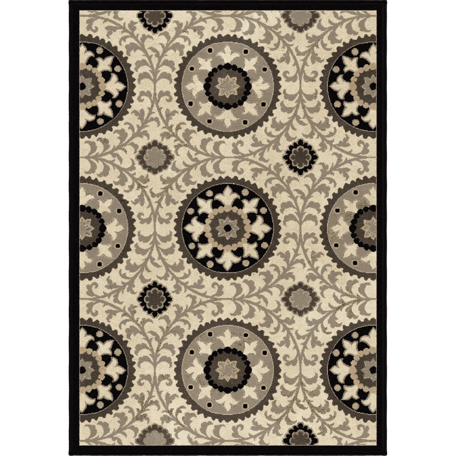 Orian Rugs Meridian Taupe Rectangular Indoor Machine-made Novelty Area Rug (Common: 5 x 8; Actual: 5.25-ft W x 7.5-ft L)