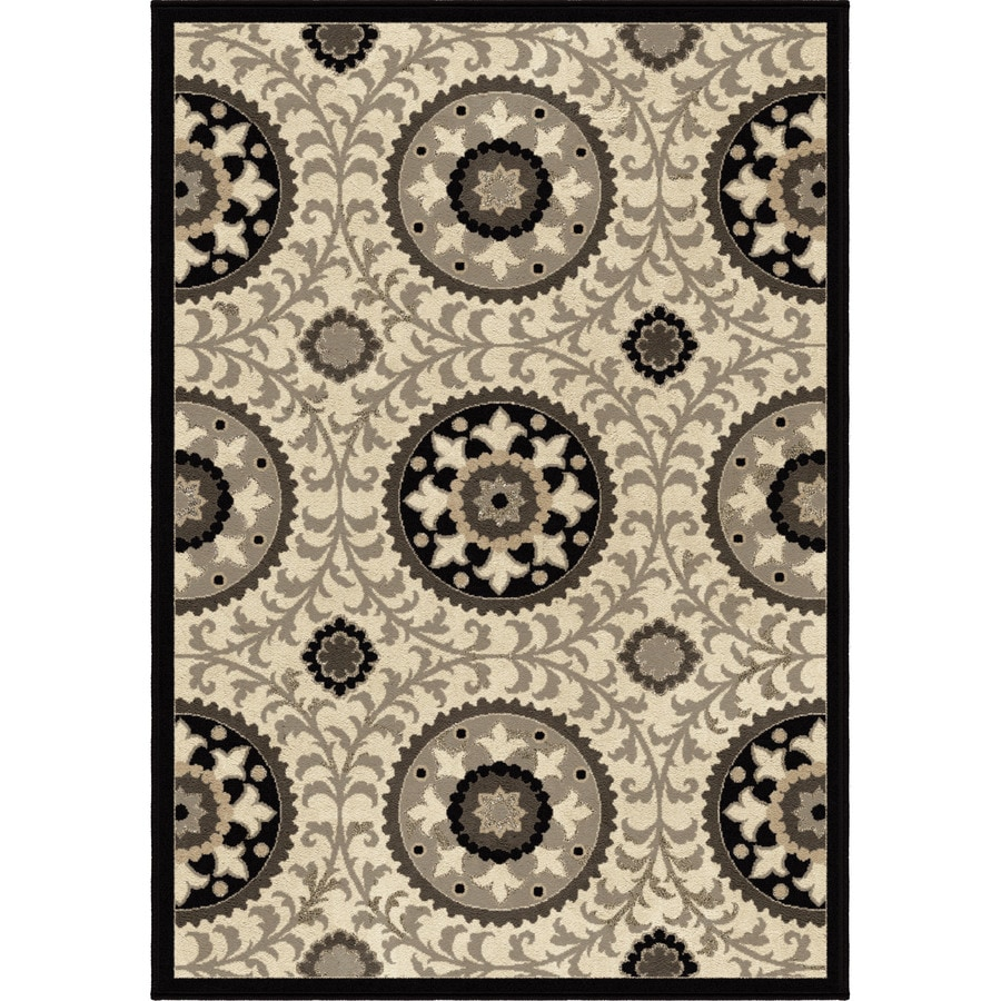 Orian Rugs Meridian Taupe Rectangular Indoor Machine-made Novelty Area Rug (Common: 8 x 11; Actual: 7.83-ft W x 10.83-ft L)